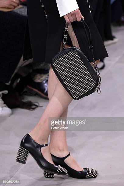 A model details walks the runway wearing Michael Kors Fall 2016 During New York Fashion Week at Spring Studios on February 17 2016 in New York City