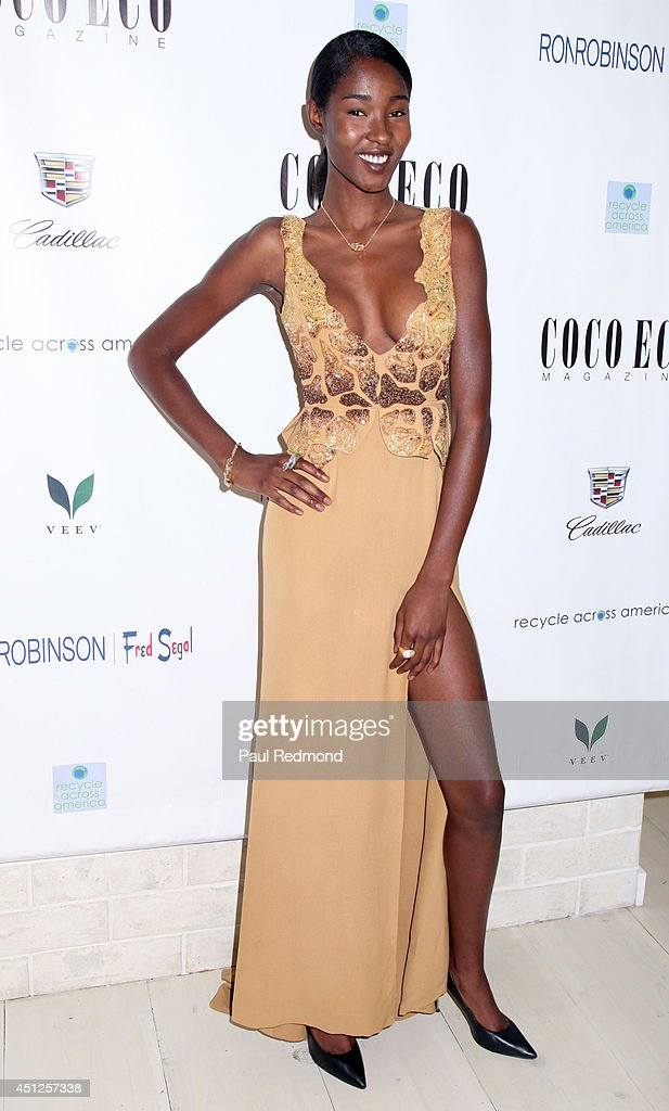 Model Devanie Gobir attending COCO ECO Magazine Launches Debut Print Issue EARTH ROCKS! An Evening Of Eco-Chic Fashion & Beauty at Roy Robinson at Fred Segal on June 25, 2014 in Los Angeles, California.
