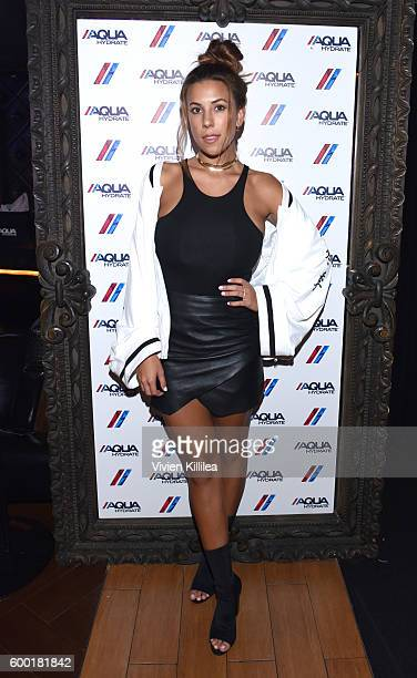 Model Devin Brugman attends a private event at Hyde Staples Center hosted by AQUAhydrate for the Drake and Future concert on September 7 2016 in Los...