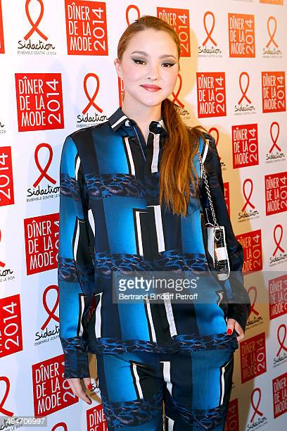 Model Devon Aoki attends the Sidaction Gala Dinner 2014 at Pavillon d'Armenonville on January 23 2014 in Paris France