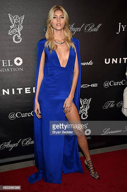 Model Devon Windsor attends Angel Ball 2015 hosted by Gabrielle's Angel Foundation at Cipriani Wall Street on October 19 2015 in New York City