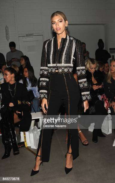 Model Devon Windsor attends Jonathan Simkhai fashion show during New York Fashion Week The Shows at Gallery 1 Skylight Clarkson Sq on September 9...