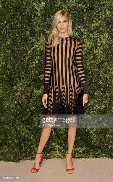 Model Devon Windsor attends the 12th annual CFDA/Vogue Fashion Fund Awards at Spring Studios on November 2 2015 in New York City
