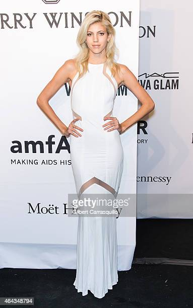 Model Devon Windsor attends the 2015 amfAR New York Gala at Cipriani Wall Street on February 11 2015 in New York City