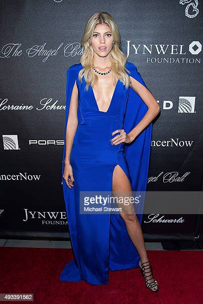 Model Devon Windsor attends the 2015 Angel Ball at Cipriani Wall Street on October 19 2015 in New York City