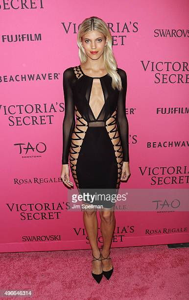 Model Devon Windsor attends the 2015 Victoria's Secret Fashion Show after party at TAO Downtown on November 10 2015 in New York City