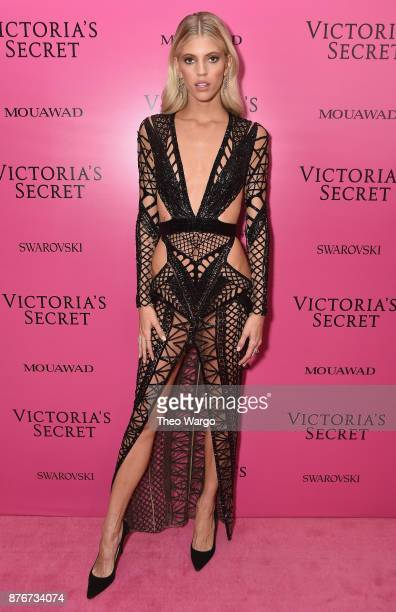 Model Devon Windsor attends the 2017 Victoria's Secret Fashion Show In Shanghai After Party at MercedesBenz Arena on November 20 2017 in Shanghai...