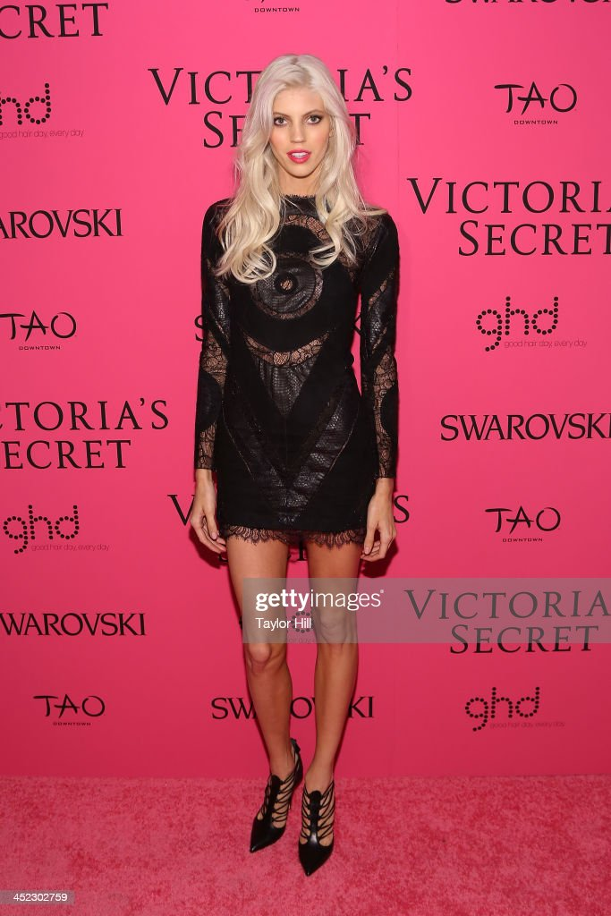 Model <a gi-track='captionPersonalityLinkClicked' href=/galleries/search?phrase=Devon+Windsor&family=editorial&specificpeople=10486182 ng-click='$event.stopPropagation()'>Devon Windsor</a> attends the after party for the 2013 Victoria's Secret Fashion Show at Lavo NYC on November 13, 2013 in New York City.