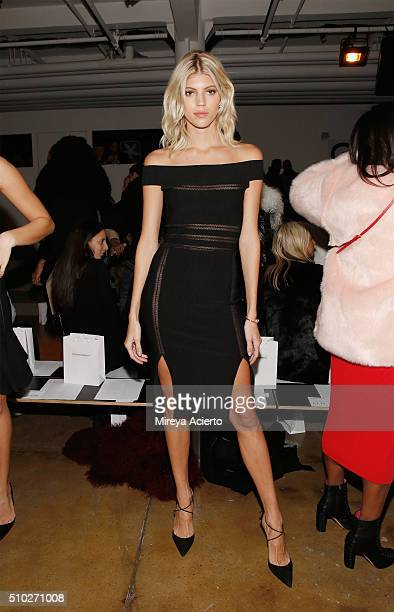 Model Devon Windsor attends the Jonathan Simkhai fashion show during Fall 2016 MADE Fashion Week at Milk Studios on February 14 2016 in New York City
