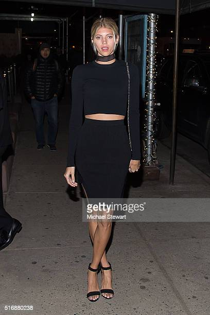 Model Devon Windsor attends Vogue Covergirl Fox celebrate 'Empire' at Omar's La Ranita on March 21 2016 in New York City