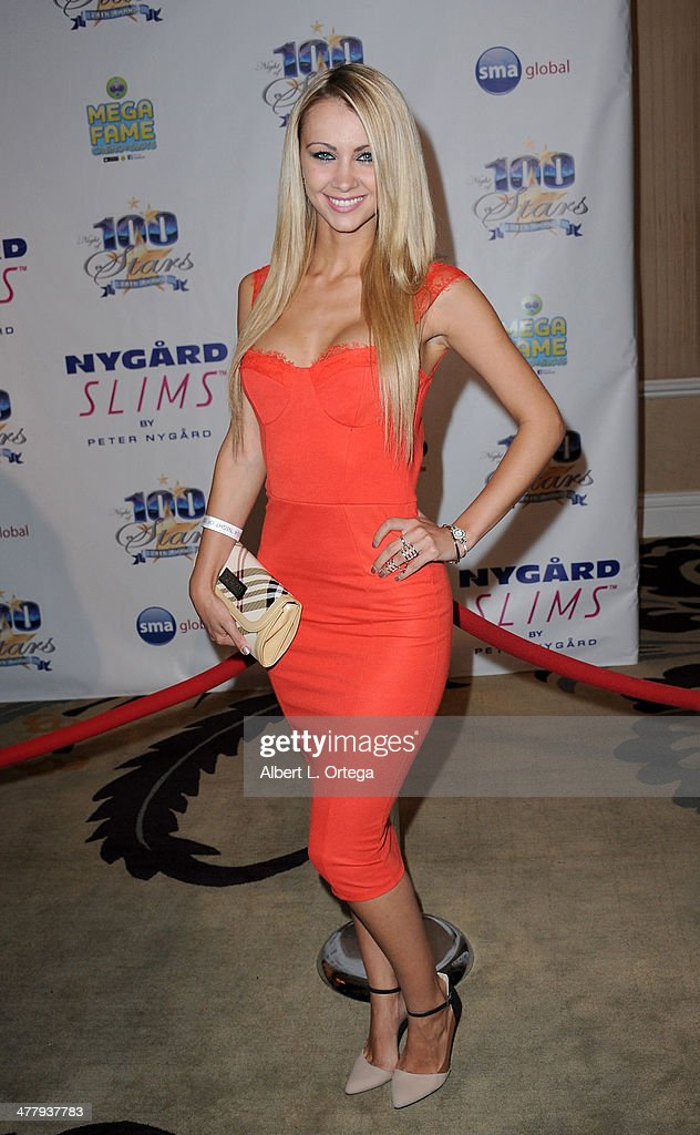 Model Diana Gudic arrives for Norby Walters' 24nd Annual Night Of 100 Stars Oscar Viewing Gala held at Beverly Hills Hotel on March 2, 2014 in Beverly Hills, California.