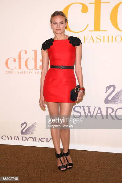 Model Diane Kruger attends the 2009 CFDA Fashion Awards at Alice Tully Hall Lincoln Center on June 15 2009 in New York City