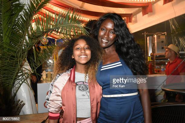 Model Diariata Niang and her daughter Delina Niang attend La Fete des Tuileries on June 23 2017 in Paris France Sylvie Ortega MunosDiariata Niang