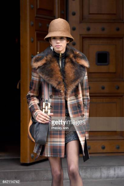 Model Dilone walks the runway at the Marc Jacobs Fall 2017 Show at Park Avenue Armory on February 16 2017 in New York City