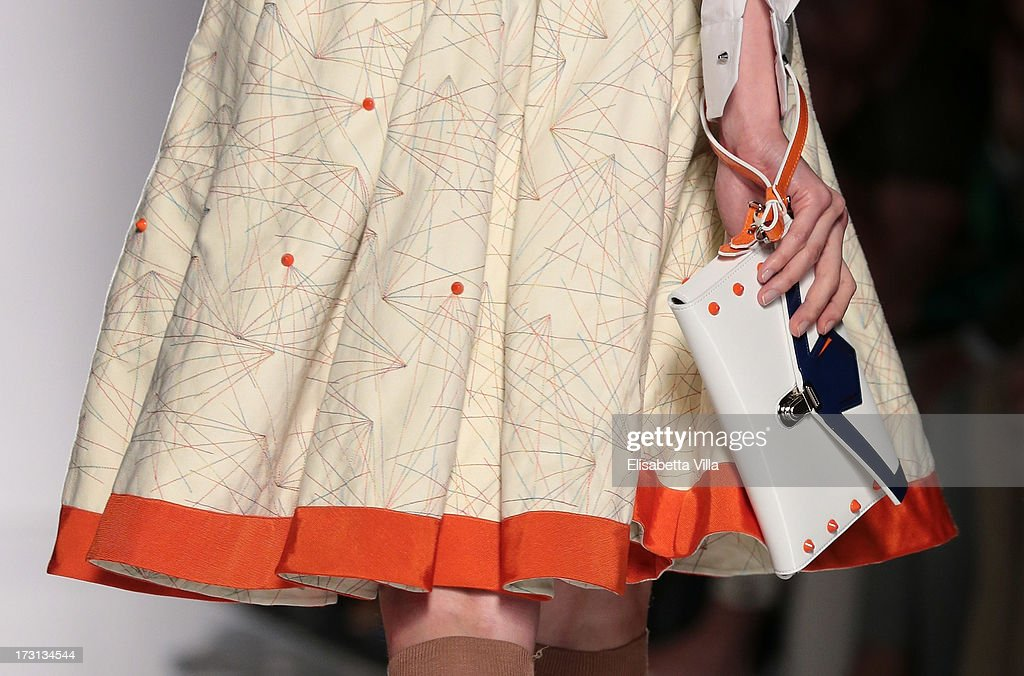 A model displays a creation by QuattroMani during 'Who Is On Next?' Altaroma Vogue Italia fashion show as part of AltaRoma AltaModa Fashion Week at Santo Spirito In Sassia on July 8, 2013 in Rome, Italy.