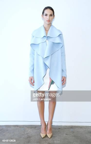 A model displays fashions during the Rubin Singer Presentation MercedesBenz Fashion Week Spring 2015 on September 6 2014 in New York City