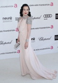 Model Dita Von Teese arrives at the 20th Annual Elton John AIDS Foundation Academy Awards Viewing Party at Pacific Design Center on February 26 2012...