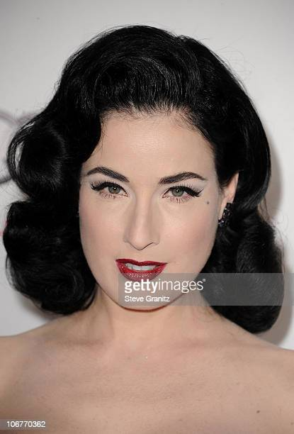 Model Dita Von Teese arrives at the 'Black Swan' screening during AFI Fest 2010 Closing Night Gala at Grauman's Chinese Theatre on November 11 2010...