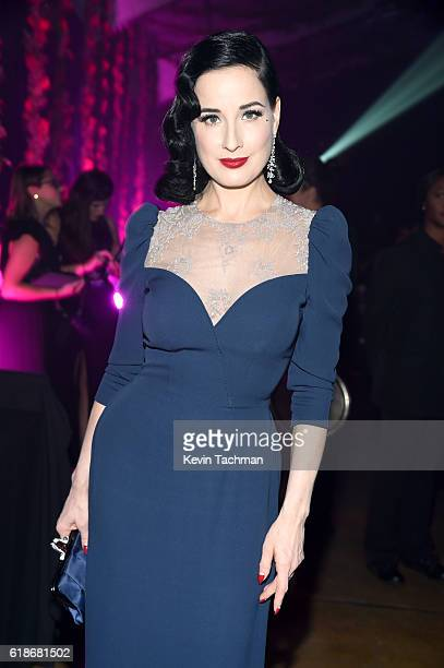 Model Dita Von Teese attends amfAR's Inspiration Gala at Milk Studios on October 27 2016 in Hollywood California