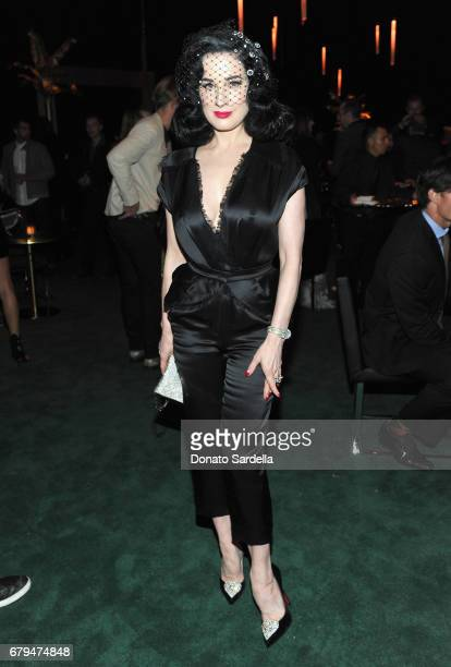 Model Dita Von Teese attends the Panthere de Cartier Party in LA at Milk Studios on May 5 2017 in Los Angeles California