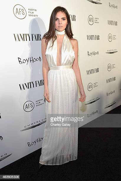 Model Doina Ciobanu attends VANITY FAIR and Chrysler Celebration of Richard Linklater and the cast of 'Boyhood' at Cecconi's on February 19 2015 in...