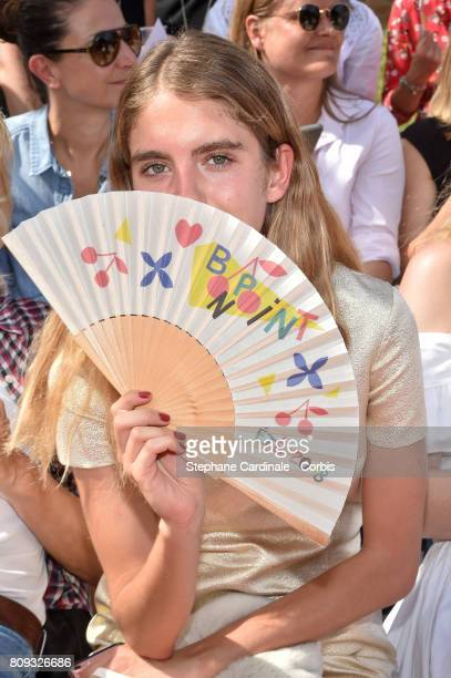 Model Dolores Doll attends the Bonpoint Haute Couture Fall/Winter 20172018 show as part of Haute Couture Paris Fashion Week on July 5 2017 in Paris...