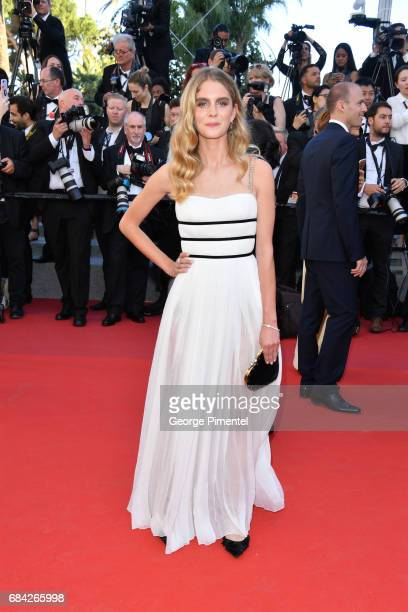 Model Dolores Doll attends the 'Ismael's Ghosts ' screening and Opening Gala during the 70th annual Cannes Film Festival at Palais des Festivals on...