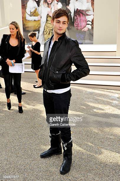 Model Douglas Booth attends the Burberry Prorsum Spring/Summer 2011 fashion show during LFW at Chelsea College of Art and Design on September 21 2010...