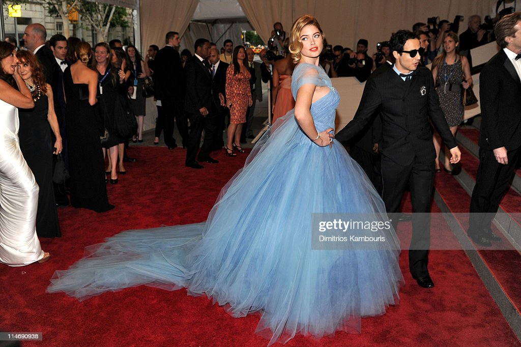 Model Doutzen Kroes and designer Zac Posen attend the Costume Institute Gala Benefit to celebrate the opening of the 'American Woman: Fashioning a National Identity' exhibition at The Metropolitan Museum of Art on May 3, 2010 in New York City.