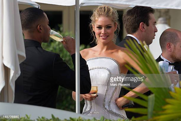 Model Doutzen Kroes and husband Sunnery James are seen at the 'MARTINEZ' hotel during the Cannes Film Festival on May 24 2012 in Cannes France