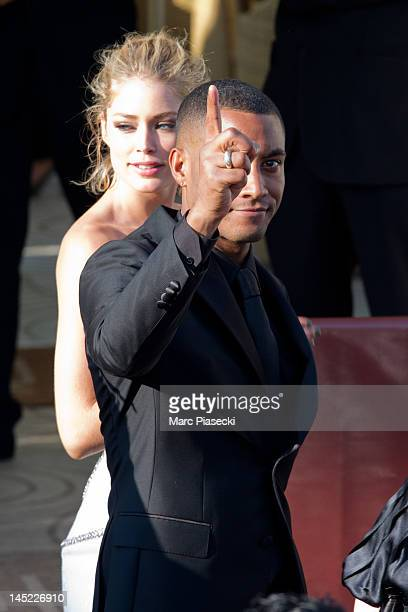 Model Doutzen Kroes and Sunnery James are seen leaving the 'MARTINEZ' hotel during the Cannes Film Festival on May 24 2012 in Cannes France