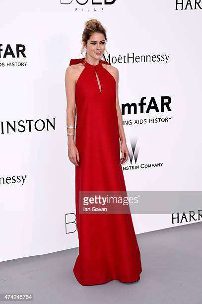 Model Doutzen Kroes attends amfAR's 22nd Cinema Against AIDS Gala Presented By Bold Films And Harry Winston at Hotel du CapEdenRoc on May 21 2015 in...