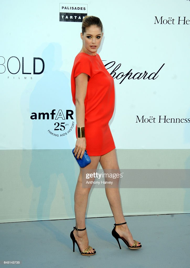 Model Doutzen Kroes attends amfAR's Cinema Against AIDS Gala during the 64th Annual Cannes Film Festival at Hotel Du Cap on May 19 2011 in Antibes...