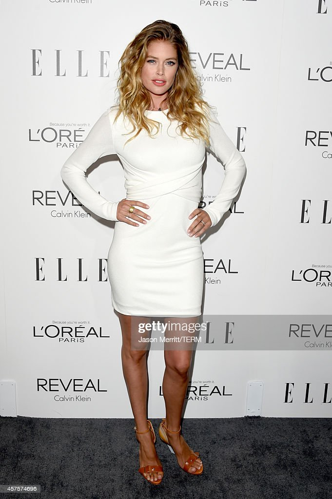 Model Doutzen Kroes attends ELLE's 21st Annual Women in Hollywood Celebration at the Four Seasons Hotel on October 20 2014 in Beverly Hills California