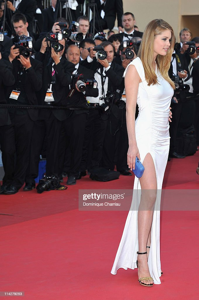 Model Doutzen Kroes attends 'The Beaver' Premiere during the 64th Cannes Film Festival at the Palais des Festivals on May 17 2011 in Cannes France