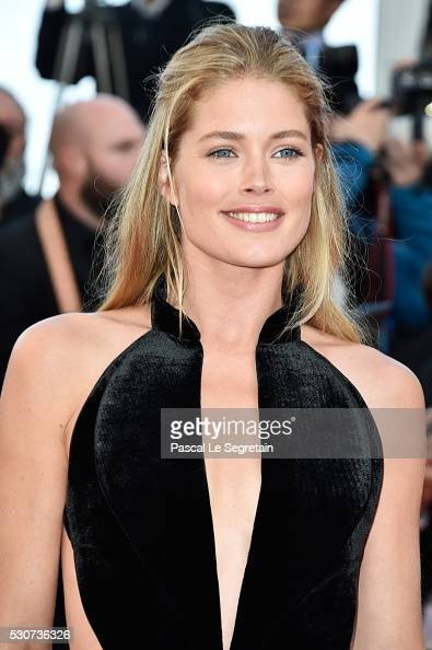 Model Doutzen Kroes attends the 'Cafe Society' premiere and the Opening Night Gala during the 69th annual Cannes Film Festival at the Palais des...