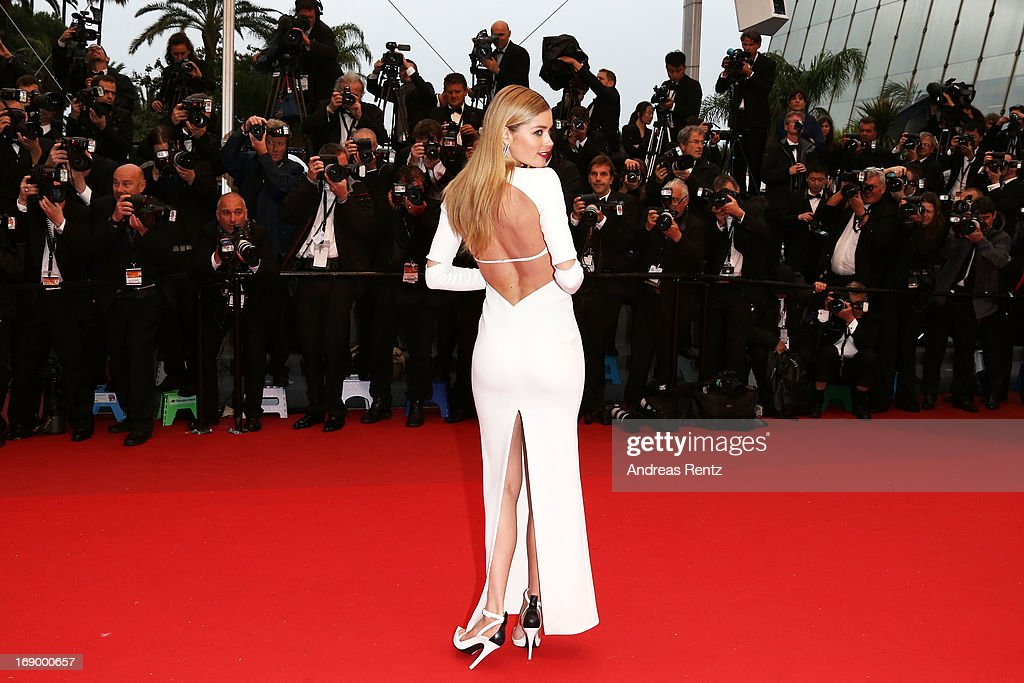 Model Doutzen Kroes attends the 'Jimmy P. (Psychotherapy Of A Plains Indian)' Premiere during the 66th Annual Cannes Film Festival at the Palais des Festivals on May 18, 2013 in Cannes, France.