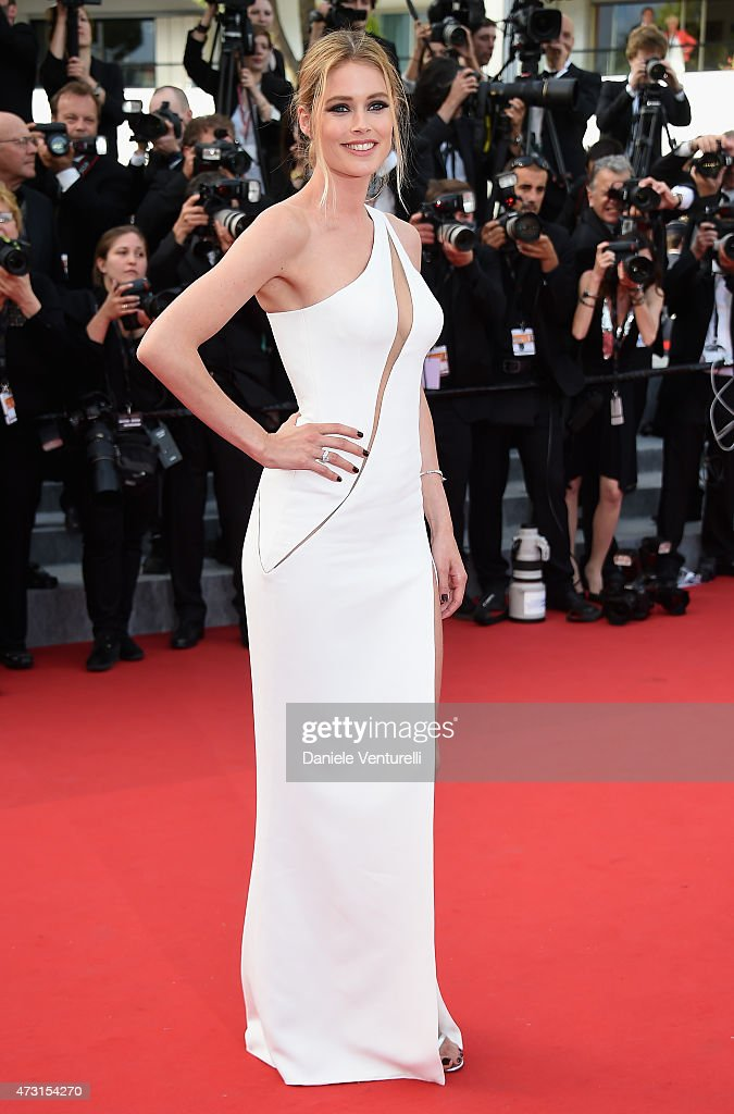 Model Doutzen Kroes attends the opening ceremony and premiere of 'La Tete Haute ('Standing Tall') during the 68th annual Cannes Film Festival on May 13, 2015 in Cannes, France.