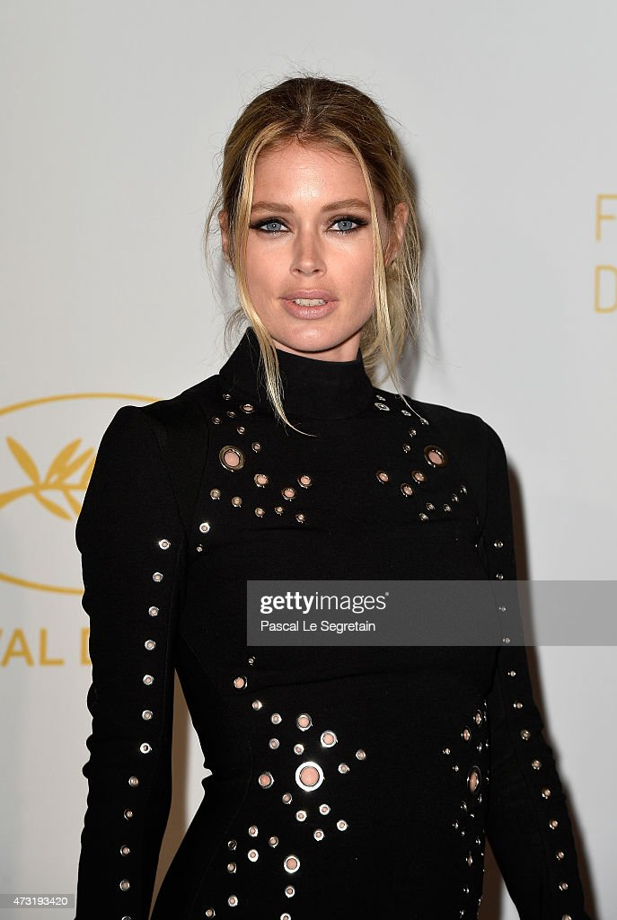 Model <a gi-track='captionPersonalityLinkClicked' href=/galleries/search?phrase=Doutzen+Kroes&family=editorial&specificpeople=859655 ng-click='$event.stopPropagation()'>Doutzen Kroes</a> attends the Opening Ceremony dinner during the 68th annual Cannes Film Festival on May 13, 2015 in Cannes, France.