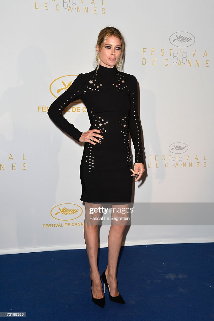 Model Doutzen Kroes attends the Opening Ceremony dinner during the 68th annual Cannes Film Festival on May 13 2015 in Cannes France