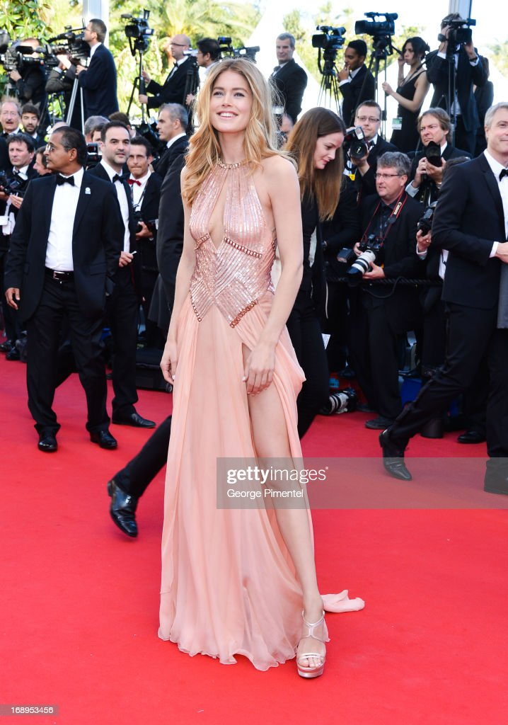Model Doutzen Kroes attends the Premiere of 'Le Passe' (The Past) at The 66th Annual Cannes Film Festival on May 17, 2013 in Cannes, France.