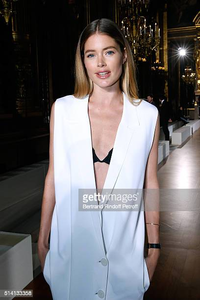Model Doutzen Kroes attends the Stella McCartney show as part of the Paris Fashion Week Womenswear Fall/Winter 2016/2017 Held at Grand Palais on...