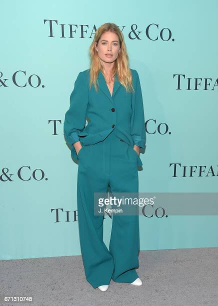 Model Doutzen Kroes attends the Tiffany Co 2017 Blue Book Collection Gala at St Ann's Warehouse on April 21 2017 in New York City