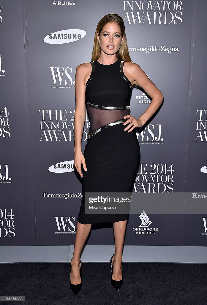 Model <a gi-track='captionPersonalityLinkClicked' href=/galleries/search?phrase=Doutzen+Kroes&family=editorial&specificpeople=859655 ng-click='$event.stopPropagation()'>Doutzen Kroes</a> attends WSJ. Magazine 2014 Innovator Awards at Museum of Modern Art on November 5, 2014 in New York City.