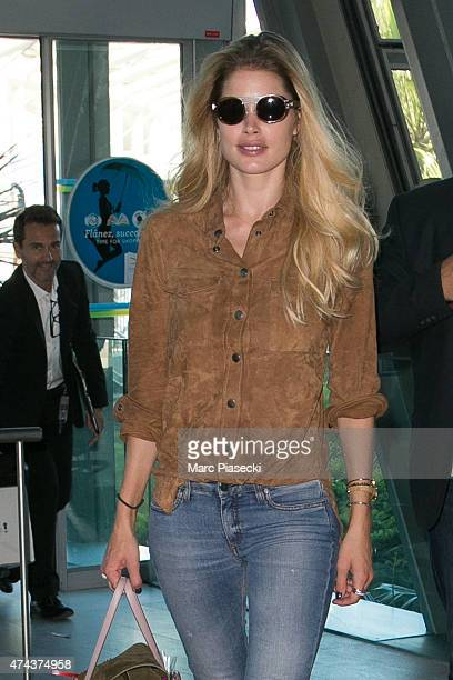 Model Doutzen Kroes is seen at Nice airport during the 68th annual Cannes Film Festival on May 22 2015 in Cannes France