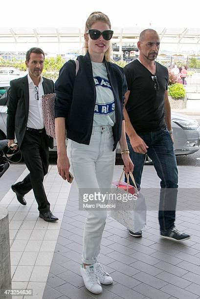 Model Doutzen Kroes is seen at the Nice airport during the 68th annual Cannes Film Festival on May 14 2015 in Cannes France