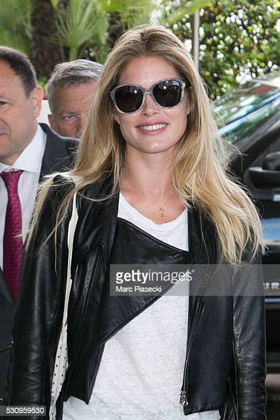 Model Doutzen Kroes is seen leaving the 'Grand Hyatt Martinez Hotel' during the annual 69th Cannes Film Festival at on May 12 2016 in Cannes France