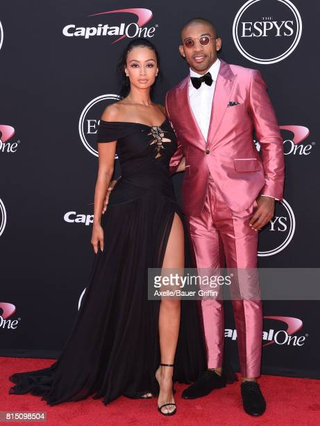 Model Draya Michele and NFL player Orlando Scandrick arrive at the 2017 ESPYS at Microsoft Theater on July 12 2017 in Los Angeles California