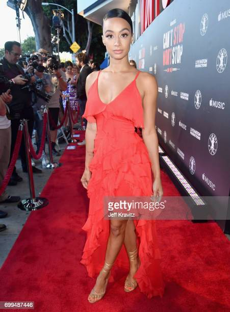 Model Draya Michele attends the Los Angeles Premiere of Apple Music's CAN'T STOP WON'T STOP A BAD BOY STORY at The WGA Theater on June 21 2017 in...