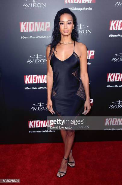 Model Draya Michele attends the premiere of Aviron Pictures' 'Kidnap' at ArcLight Hollywood on July 31 2017 in Hollywood California